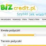bizcredit zrzut strony