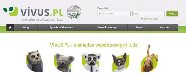 zrzut strony vivus.pl