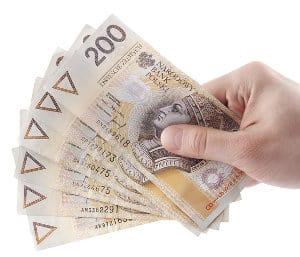 plik banknotów 200 zł