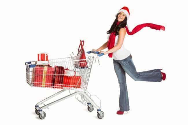 świąteczny koszyk zakupów