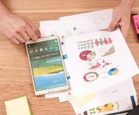 tablet i wykresy