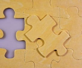 Fragment układanki z puzzli