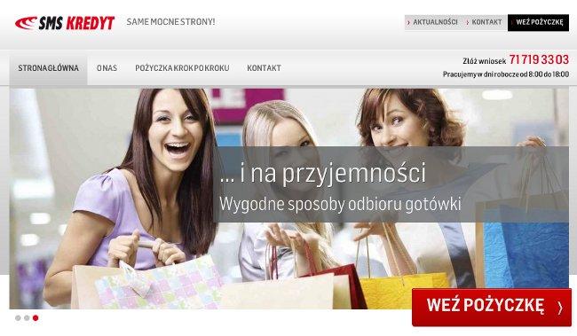 sms kredyt zrzut strony