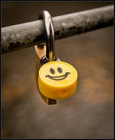 Kłódka z uśmiechem