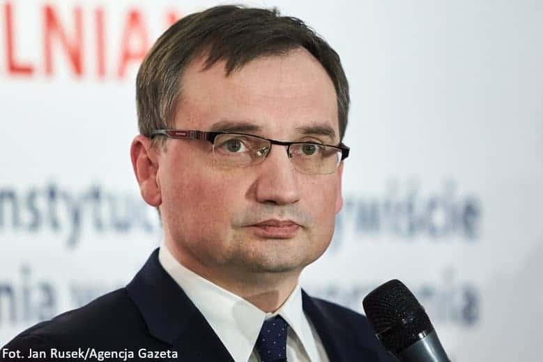 Zdjęcie przedstawiające Ministra Sprawiedliwości Zbigniewa Ziobrę